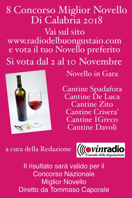 88b051e24b Concorso per il Miglior Novello di Calabria - Agenzia Italia Stampa