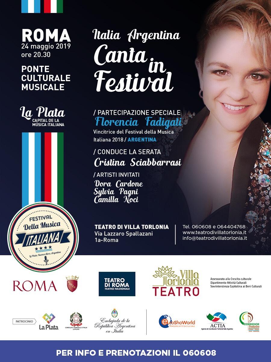 """365357e42d """"Italia Argentina Canta in Festival"""" il 24 maggio al Teatro Torlonia di Roma"""